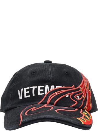 VETEMENTS Black Cotton Fire Hat