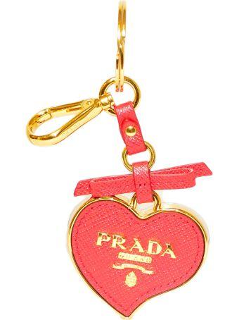 Prada Small Heart Keychain