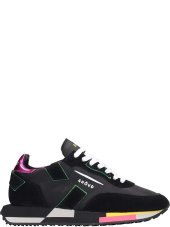 GHOUD Rush Black Suede And Leather Sneakers