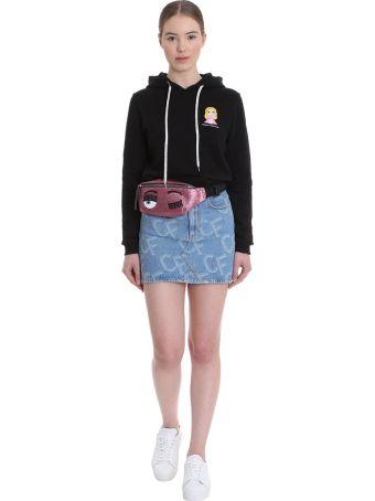 Chiara Ferragni Sweatshirt In Black Cotton
