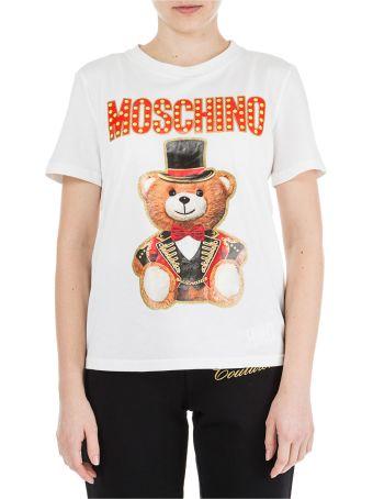 Moschino  T-shirt Short Sleeve Crew Neck Round Teddy Circus