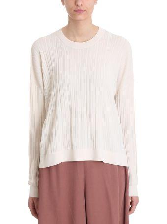 Acne Studios Kami Ribbed Ivory Cotton Sweater