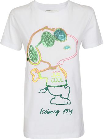 Iceberg Embroidered Snoopy T-shirt