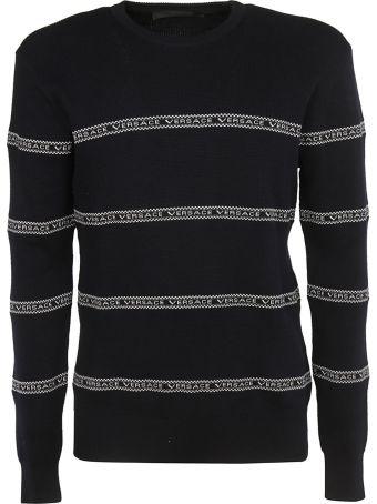 Versace Logo Stripe Sweatshirt