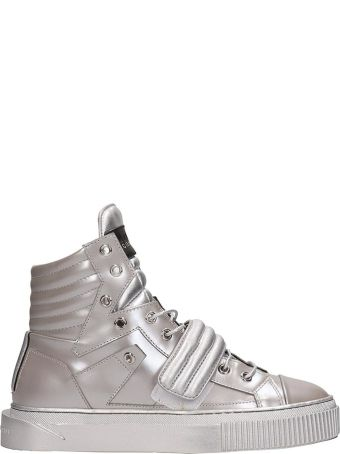 Gienchi Silver Laminated Leather Hypnos Sneakers