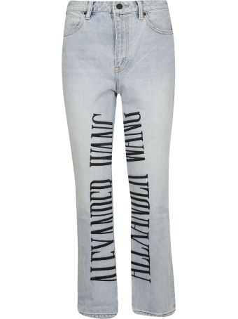 T by Alexander Wang Cult-logo Embroidered Jeans