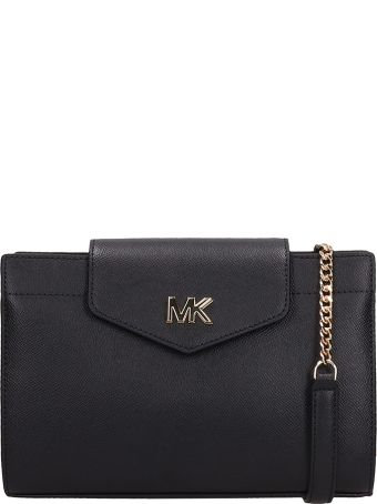 Michael Kors Black Leatherlg Cnv Xbody Bag