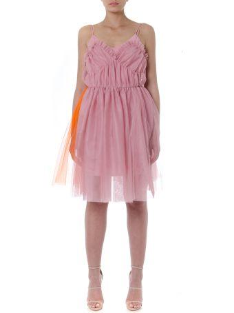 MSGM Short Pink Tulle Dress
