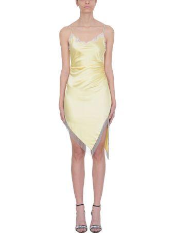 Alexander Wang Yellow Silk Slim Dress