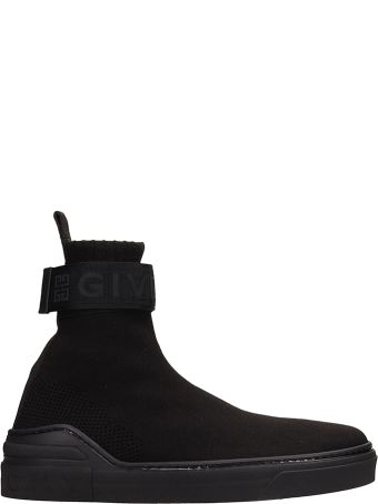 Givenchy George V Sock Black Stretch Knit Nylon Sneakers