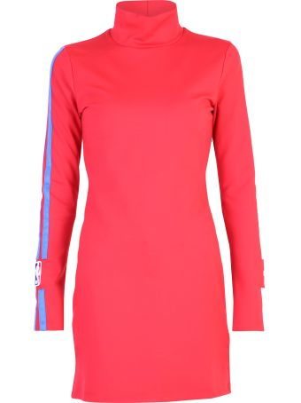 Marcelo Burlon Red Fitted Dress