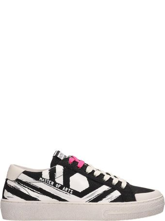 M.O.A. master of arts Black And White Glitter Sneakers
