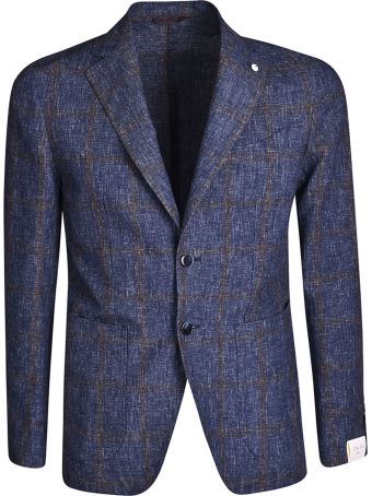 Luigi Bianchi Mantova Single Breasted Printed Detail Blazer