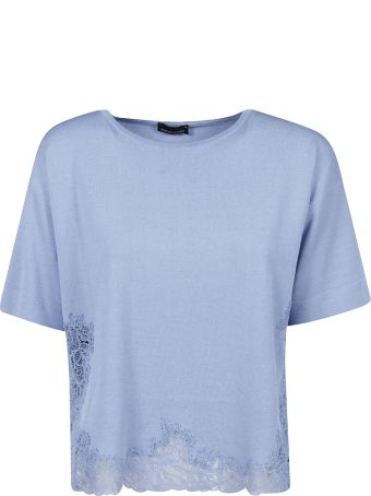 Ermanno Scervino Cropped Perforated T-shirt