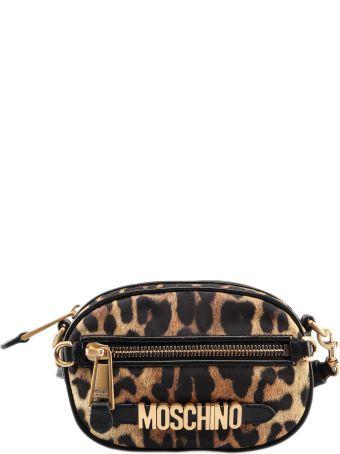 Moschino Leopard Print Shoulder Bag