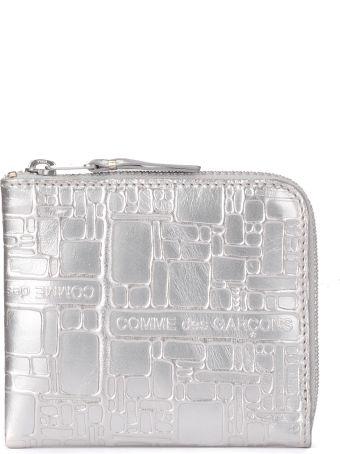 Comme des Garçons Wallet Comme Des Garçons Silver Leather Coin Wallet