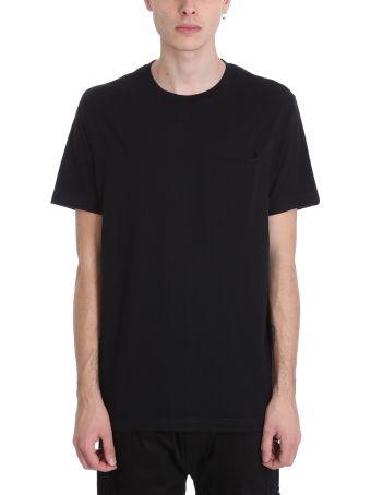 Maharishi Pocket Black Cotton T-shirt