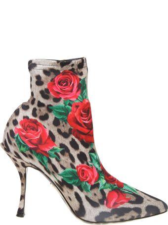 Dolce & Gabbana Lori Printed Jersey Boot
