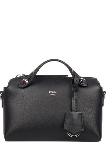 Fendi Black By The Way Mini Leather Top Handle Bag