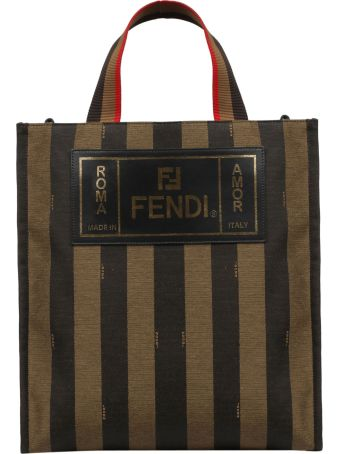 Fendi Striped Tote