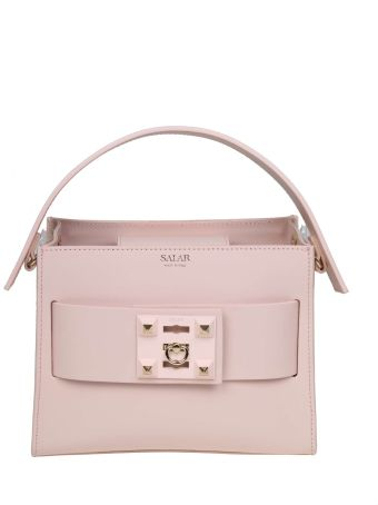 Salar Handbag Ludo In Leather Color Powder