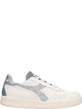 Diadora White Leather Sneakers