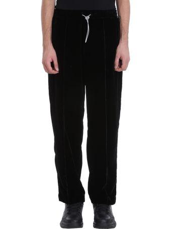 Bonsai Black Velour Pants