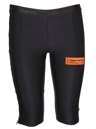 HERON PRESTON Logo Patch Shorts
