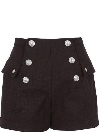 Balmain Six Button High Waist Shorts