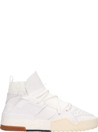 Adidas Originals by Alexander Wang Aw Bball Leather White Sneakers