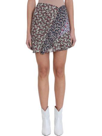 Isabel Marant Étoile Loz Blue Pink Cotton Skirt