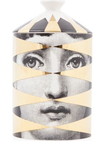 Fornasetti Candela 300 G Natural Wax Candle Losanghe Gold