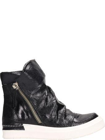 Cinzia Araia Black Crack Sneakers