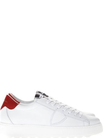 Philippe Model Blue & White Leather Sneakers