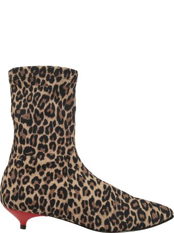 GIA COUTURE Leopard Ankle Boots