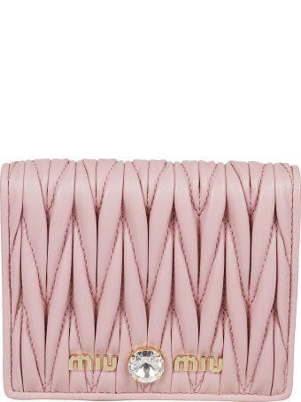 Miu Miu Embellished Billfold Wallet