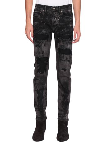 Overcome Distressed Coated Jeans