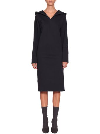 A plan application Navy Cotton Hooded Dress