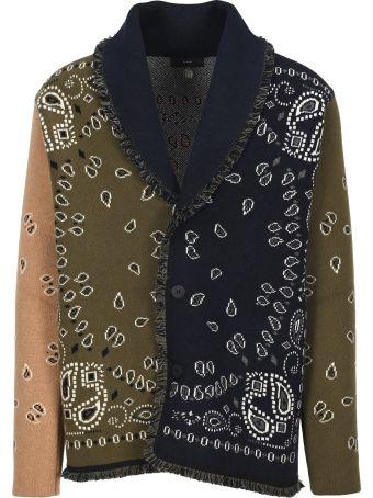 Alanui Paisley Colour-block Cardigan