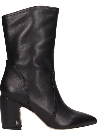 Sam Edelman Black Leather Hartley Ankle Boots
