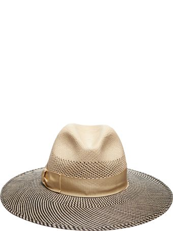Borsalino Striped Sun Hat