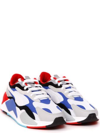 Puma Select Multicolor Rs-x Puzzle Leather & Nylon Sneaker