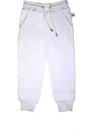 GCDS Mini White Trousers Jogging