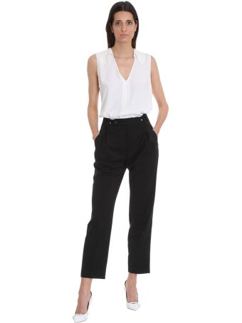 Mauro Grifoni Pants In Black Wool