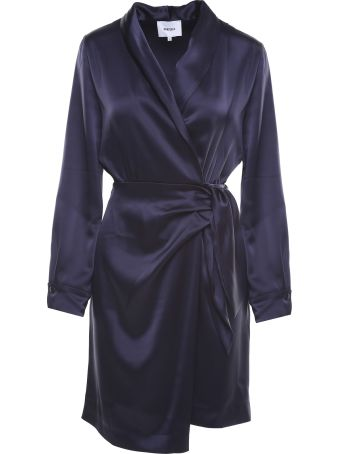 Nanushka Siwa Satin Wrap Midi Dress