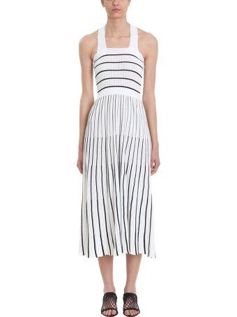 Sonia Rykiel Striped Midi Knit Dress