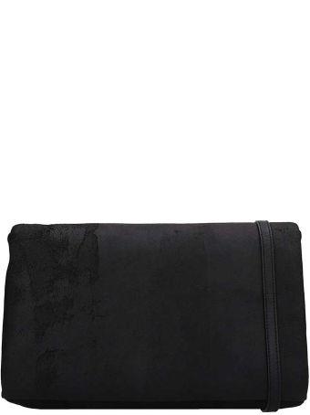Rick Owens Black Leather Adri Med Flap Bag