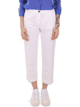 Massimo Alba White Sparus Trousers