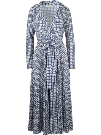 Valentino V Pattern Print Belted Dress