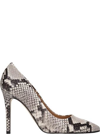 Alchimia Python Print Leather Pumps